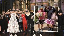 El  rapero de ascendencia mexicana, Kid Cudi, se presentó usando un vestido, siguiendo la tendencia del Carita y el Turky