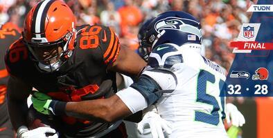 En partido de volteretas, Seattle se impuso a Browns