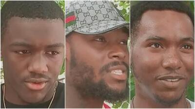 Estos tres jóvenes son considerados unos héroes luego de rescatar a una familia atrapada en su auto en llamas