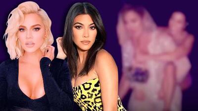 Montada una encima de la otra (literal): la singular felicitación de Kourtney Kardashian a Khloe en su cumpleaños