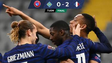 Francia gana fácil a Kazajistán y Mbappé falla un penal