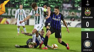 ¡Y sin Icardi! El Inter pega primero y consigue vital victoria de visita ante el Rapid de Viena