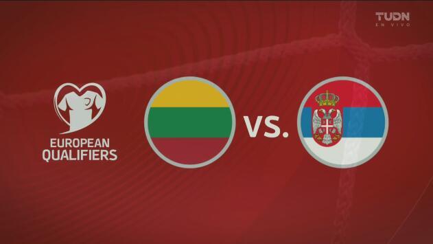 Lituania 1-2 Serbia – Goles y Resumen – Grupo B - Clasificatorio a la Eurocopa