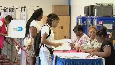 El voto anticipado en el sur de Florida registra altas cifras y masiva participación