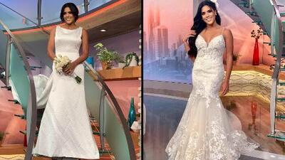 Detalle en video: Francisca Lachapel y sus dos vestidos de novia comparados frente a frente