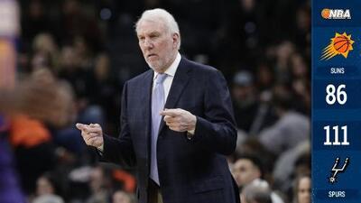 Gregg Popovich es el cuarto coach con más victorias en la historia de la NBA