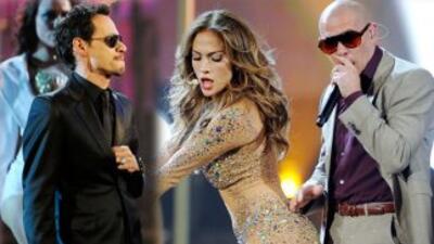 Pitbull y Wisin y Yandel felicitaron a JLo y Marc