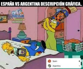 No solo fue España, los memes también le dieron una goliza a Argentina