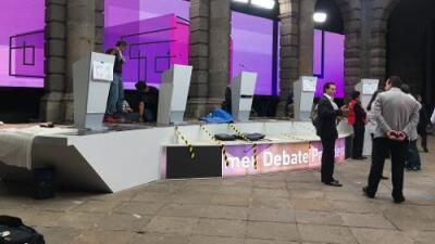 Este es el escenario donde se realizará el primer debate por la presidencia de México