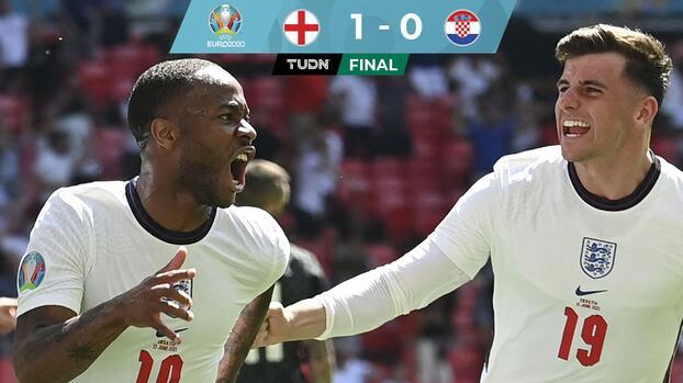 Inglaterra vence a Croacia con gol de Raheem Sterling