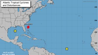 Humberto alcanza fuerza de huracán mientras avanza lentamente hacia las Bermudas