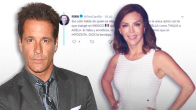 """Fernando Carrillo tacha de """"falsa"""" a Laura Flores luego que dijo que es el peor que la ha besado en las novelas"""
