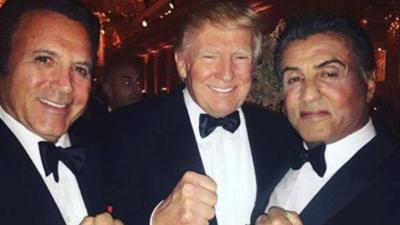"""Sylvester Stallone lleva a """"Rambo"""" a la fiesta de año nuevo de Donald Trump (y deja a Rocky en casa)"""