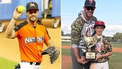 William Levy comparte la pasión del béisbol con su hijo