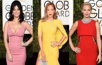 El glamour en la alfombra roja de los Golden Globes