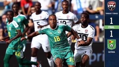 Trinidad y Tobago y Guyana se despiden de la Copa Oro con empate a punta de golazos