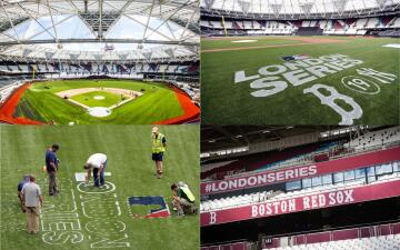 Así va tomando forma el London Stadium para recibir a Red Sox y Yankees