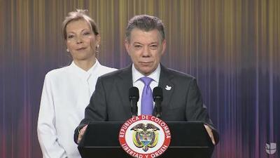 Juan Manuel Santos dedica el Nobel a todos los colombianos, en especial a las víctimas