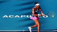 Venus Williams es eliminada del Abierto Mexicano de Tenis
