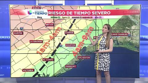 Se pronostican tormentas en horas de la mañana este jueves en Houston y no se descartan tornados en el área