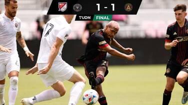 Con el regreso al gol de Josef Martínez, Atlanta igualó ante el Inter Miami