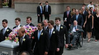 Con cuatro expresidentes (pero sin Trump), así fue el funeral de la ex primera dama Barbara Bush