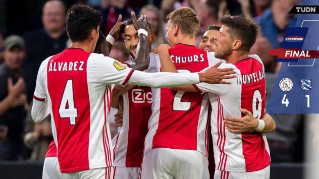 Ajax golea a Heerenveen con Edson Álvarez en la cancha