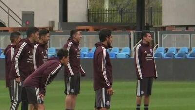 México realizó su primer entrenamiento en EEUU con sus 26 futbolistas