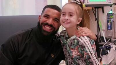 Drake sorprende en el hospital a una niña que espera un trasplante de corazón