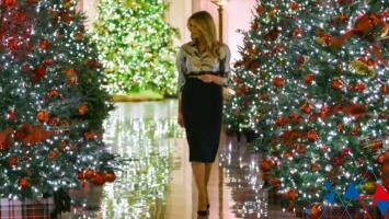 """""""Quiere borrar esa manchita"""": Melania Trump se lució con la decoración navideña de la Casa Blanca y Argelia está sorprendida"""