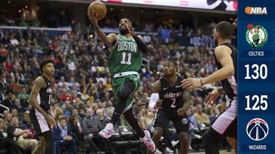 Kyrie Irving explota en tiempo extra y Boston vence a Washington