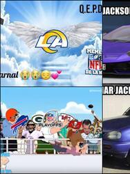 ¡Los Ravens y los Rams se llevaron los memes! | Tras quedar fuera de las Finales de Conferencia, las redes sociales hicieron 'leña de los árboles caídos'.