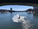 Dos hombres quedan atrapados en una placa de hielo en medio del río Rock, al norte de Illinois