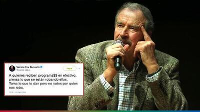 Vicente Fox se contradice, ataca al partido de AMLO y desata la furia de sus seguidores en Twitter