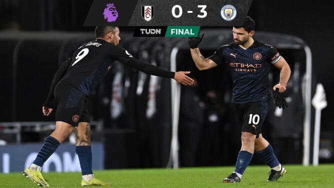 Manchester City vence sin problema al Fulham