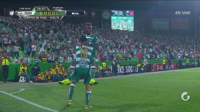 Diego Valdés le da la vuelta 3-2 que pone a Santos en Semifinales