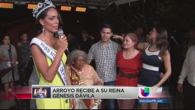 Fiesta en Arroyo para recibir a Génesis Dávila