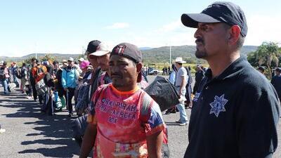 Los migrantes de la caravana recibieron buenas noticias al llegar a Nayarit, México