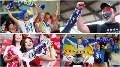 Con la ilusión del título, los fanáticos ucranianos y surcoreanos vibraron en la Final del Mundial Sub-20