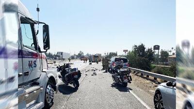 Accidente múltiple entre camiones deja dos personas muertas y horas de tráfico en la carretera 99