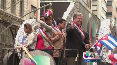 Sangre latina en la Quinta Avenida de Nueva York por el Día de la Hispanidad