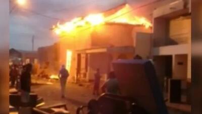 Incendios y al menos una persona muerta dejan los enfrentamientos de este sábado en Nicaragua