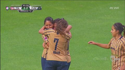 ¡Gol, gol, gol de Pumas! Edna Santamaria recupera el empate