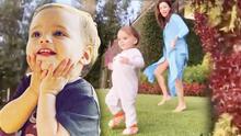 El divertido y tierno video del hijo de Eva Longoria robando miradas mientras baila 'El tiburón'