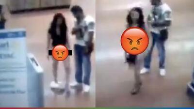 (Video) Mujer se desnuda completamente para demostrar que no había robado nada