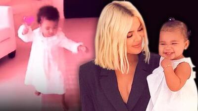Khloé Kardashian muestra como la pequeña True ya aprendió a caminar, pocos días después de cumplir un año