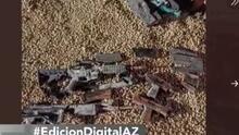 Arizonenses encuentran bolsa de armas enterradas en el jardín de su casa