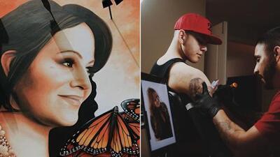 El hijo de Jenni Rivera le agrega al tatuaje de su mamá un detalle fundamental en la vida de la 'Diva de la Banda'
