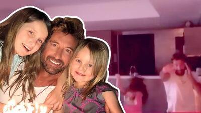 A Gabriel Soto ya le gustó: por tercera vez se puso a bailar como jovencito con sus hijas