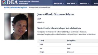 El hijo de 'El Chapo' es incluido en las lista de los 10 más buscados por la DEA